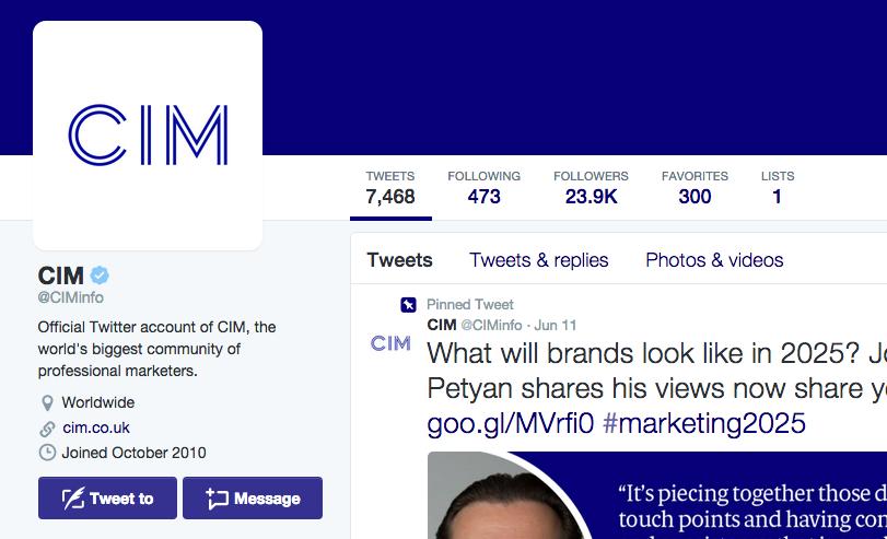 CIM twitter